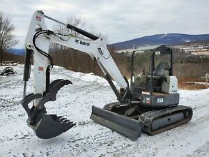 2016 Bobcat E50 Excavator Low Hours New Hydraulic Thumb Excellent Tracks Nice