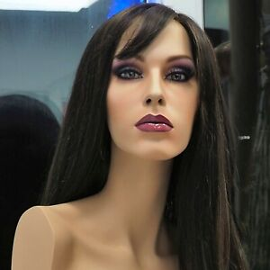 Ruby Sexy Beautiful Lifelike Hand painted Njn Mannequin Torso With Glass Eyes