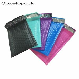 10pcs Color Poly Bubble Mailer Padded Shipping Gift Wedding Envelope Bag Mailing