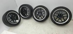 2002 Chevrolet Corvette Aftermarket 18 Wheels Front Rear Wheel Rims Tires
