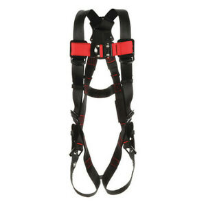 3m Protecta 1161505 Full Body Harness Vest Style 3xl Polyester Black