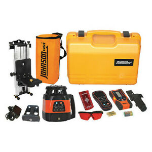 Johnson 40 6534 Rotary Laser Level int ext red 1500 Ft