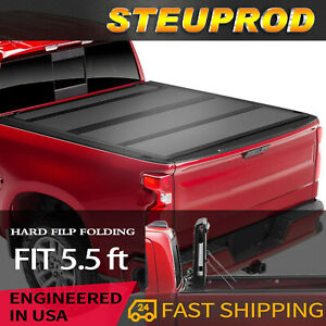 For 2015 2021 Ford F 150 Bed Cover Flip Folding Tonneau Cover 5 5ft