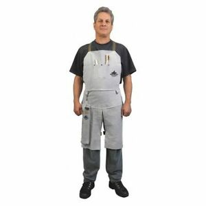 Mcr Safety 38236mw Leather Welding Bib Apron Split Leg 24x