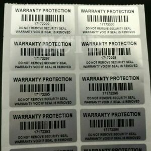 100pcs Warranty Protection Sticker Stickers Label Void Proof Tamper Seal