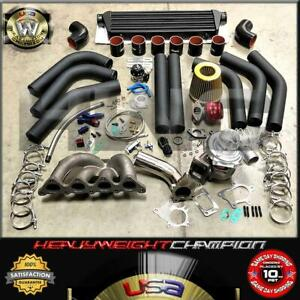 90 99 Eclipse Talon 4g63t Turbo Charger Kit T3 t4 Manifold intercooler bov