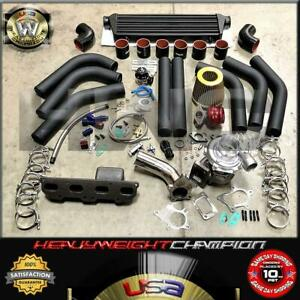 95 99 Eclipse Talon Neon 420a 2 0l Dohc Turbo Charger Kit T3t4 intercooler bov