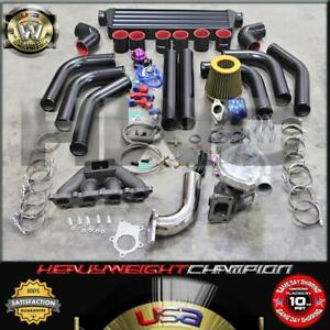 02 06 Acura Rsx Dc5 Civic Ep3 K20a K20z Turbo Charger Kit T3t4 Intercooler Bov