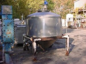 550 Gallon Cone Bottom Jacketed Tank Brewery Tank With Mixer