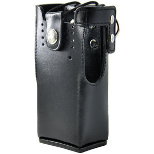 Hard Leather Case Carrying Holder Holster For Motorola Two Way Radio New Td