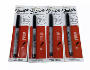 Sharpie Ultra fine Point Permanent Markers Black Lot Of 4