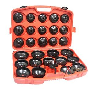 30pc Auto Cup Type Oil Filter Cap Wrench Socket Removal Tool Set Bmw Benz Audi
