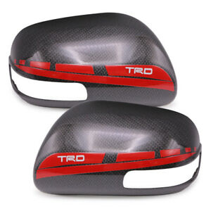 Carbon Red Wing Mirror Side View Cover For Toyota Corolla Altis Vios 2007 2012