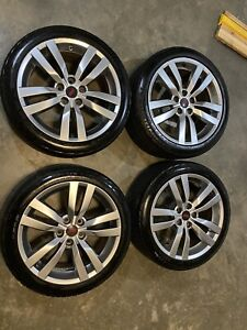 Subaru Sti Wheels 5x114 3 18 Inch With Continental Control Contact Tires Oem