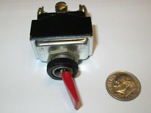 C h eaton Red Toggle Switch Dpdt On on Screw Terms New Old Stock