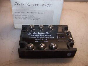 New Carlo Gavazzi Electromatic Rs3022402524 3 Phase Ac Solid State Relay 24 Vdc