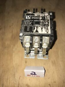 Honeywell Contactor Dp3040b5001 120v Coil 15hp 40 Amp 3 Pole