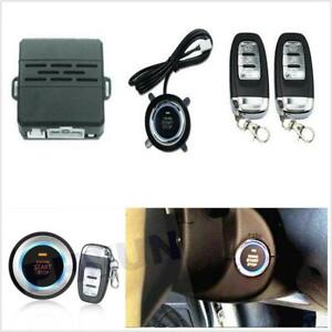 Car One Key Start Alarm System Security Alarm Ignition Engine Start Push Button