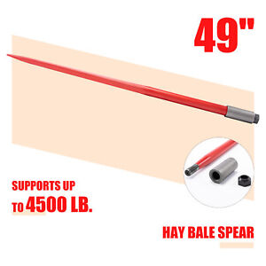 Compact 49 Hay Bale Spike With 4500lb Capacity Tool For Truck Tractor More