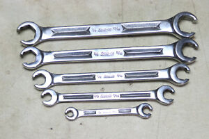 Snap On 5 Piece Sae Flare Nut Wrench Set 1 4 13 16