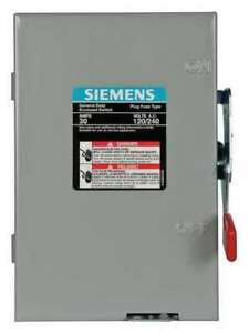Siemens Lf211n 30 A Amps Ac 120 240v Ac Single Throw Safety Switch 2pst