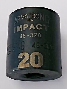 Armstrong 46 320 3 8 Drive 12 Point Impact Socket 20mm Usa