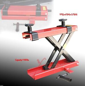 New Mini Scissor Lift Jack 1100lb Atv Motorcycle Dirt Bike Scooter Crank Stand