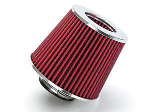 3 25 Inch Inlet Air Intake Cone Dry Universal Red Filter Car truck suv