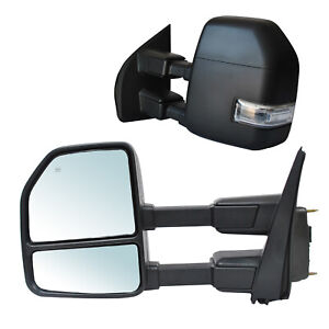 Towing Mirrors For 2017 2020 Ford F 250 Super Duty Power Heated Led Signal Lh Rh