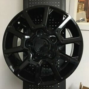 20 Gloss Black Off Road Style Wheels Rims 5x150 Fits Lexus Lx570 Lx