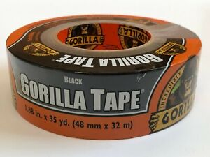 Gorilla Tape 1 88 in X 35 Yards Black Super Sticky Strong Durable Duct Duck 2 in