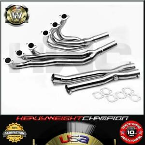 84 91 Bmw E30 325 M20 2 5l 2 7l Stainless Steel Header Y Pipe Downpipe Full Kit