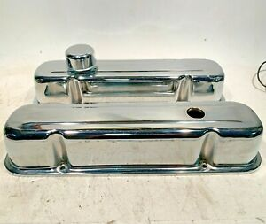 1967 1986 Small Block Chevy Chrome Valve Covers 283 350 327 305