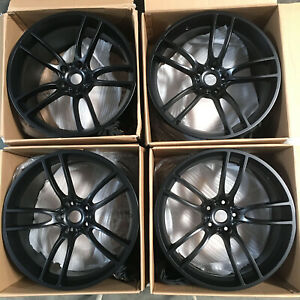 19x10 19x11 Rep Gt Style Fit Mustang 5x114 3 35 50 Black Wheels Rims Set 4