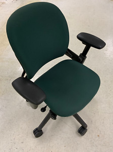 Steelcase Leap V1 Used Office Task Chair Green Fabric free Local Pickup