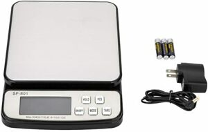 110 Lb X 0 1oz All in one Pro Digital Postal Shipping Scale Weigh With Adapter