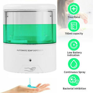 600ml Wall mount Automatic Soap Dispenser Ir Sensor Touch Free Battery Powered