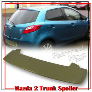 2008 2014 Fit For Mazda 2 3rd Hatchback K Window Roof Spoiler Gs Gx Painted