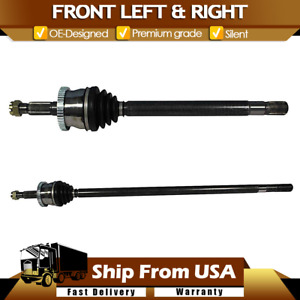 Front Cv Joint Axle Shaft Pair Set For 99 04 Grand Cherokee W Quadra Drive 4wd