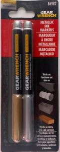 Gearwrench 86982 Gold And Silver Metallic Permanent Ink Marker