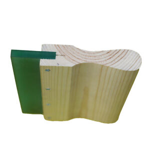6 Inch Wood Silk Screen Squeegee Handle With 70 Duro Blade 4 Pc