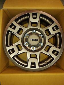 Set Of 5 Toyota Trd Pro Wheels 17 Bronze Fits Tacoma 4runner Fj Cruiser