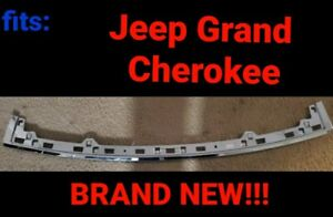 Fits 2014 2017 Jeep Grand Cherokee Chrome Rear Step Pad Trim Trunk Applique