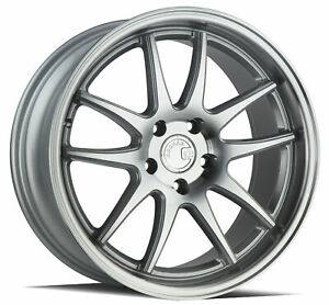 18x8 5 Aodhan Ds02 Ds2 5x114 3 35 Silver Machined Wheels Rims Set 4 73 1
