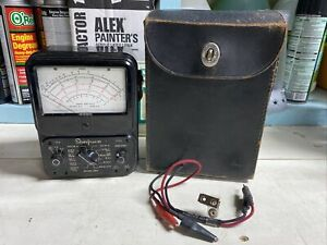 Vintage Simpson 260 Analog Multimeter With Original Case