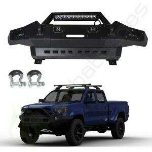 For 13 15 Toyota Tacoma Step Front Bumper Protector Face Bar Pickup led Lights