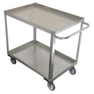 Zoro Select 11a458 Stainless Steel Unassembled Utility Cart 1200 Lb Capacity