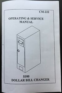 Antares Edina Coffee Inns Cm 222 Operation Manual For Dollar Bill Changer Cm 222