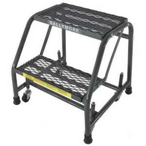 Ballymore 218x 19 In H Steel Rolling Ladder 2 Steps 450 Lb Load Capacity