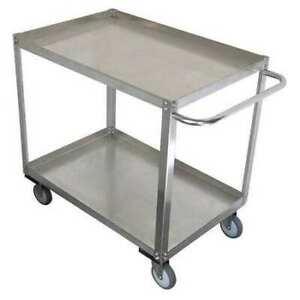 Zoro Select 11a460 Stainless Steel Unassembled Utility Cart 1200 Lb Capacity